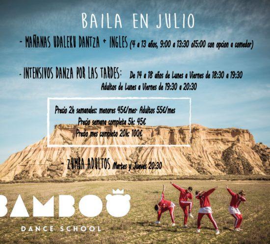 BAILA EN JULIO CON BAMBOO
